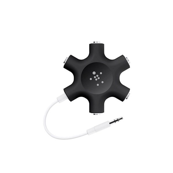 Belkin RockStar 5-Jack 3.5 mm Audio Headphone Splitter Mini-phone Female Audio - Black