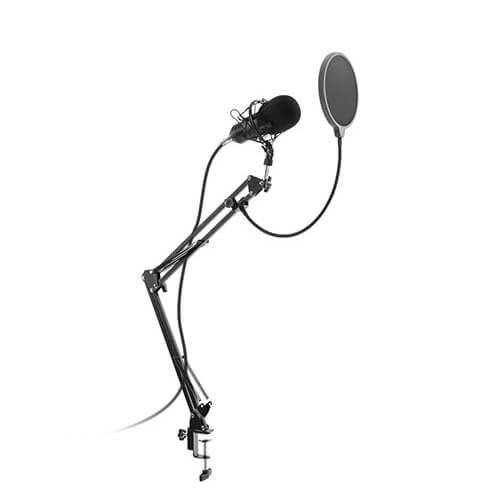Brateck MPS07-1 Condenser Microphone Clamp-On Mic Boom Arm Stand Bundle