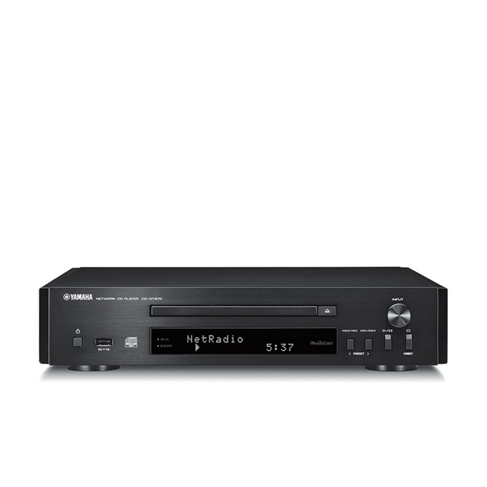 Yamaha MusicCast CD-NT670 Network Compatible CD Player - Black