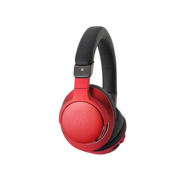 Audio Technica ATH-AR5BT Closed On-ear Bluetooth Headphones - Red