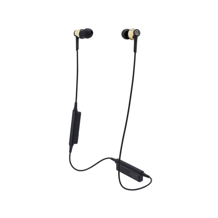 Audio Technica ATH-CKR35BT Bluetooth In-Ear Headphones - Gold