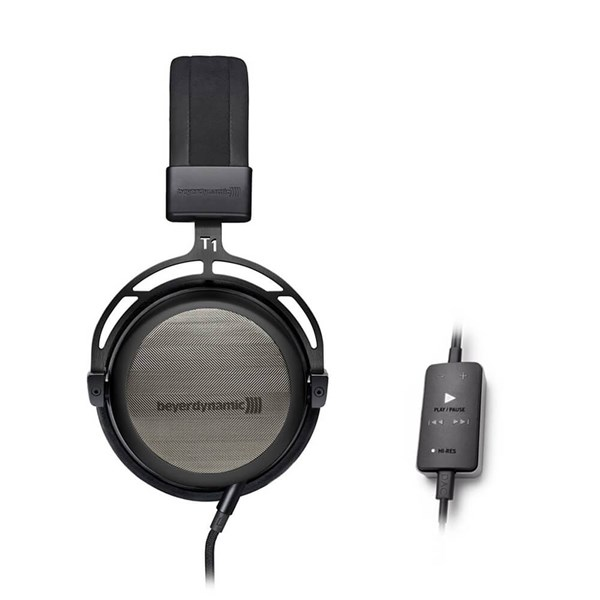 Beyerdynamic T1 Gen. 2 Semi Open Headphones - Black Edition + Impacto Cable with DAC and Amplifier Combo