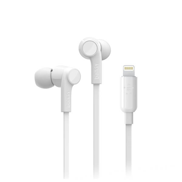 Belkin Rockstar Headphones with Lightning Connector -White