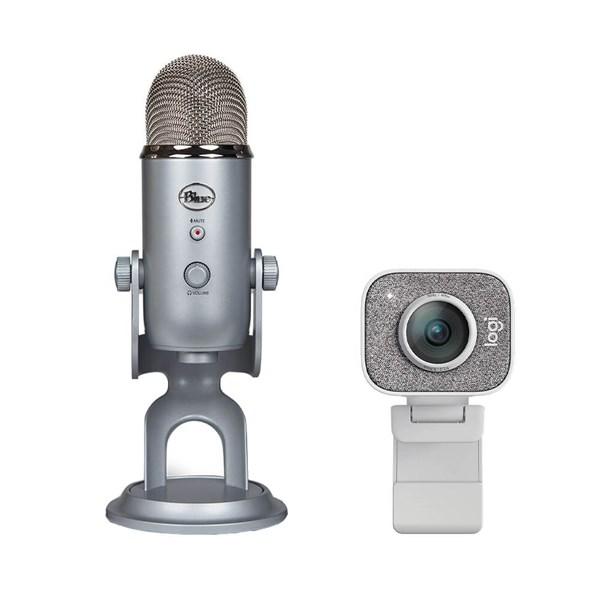 Logitech StreamCam + Yeti Microphone Combo - White / Silver