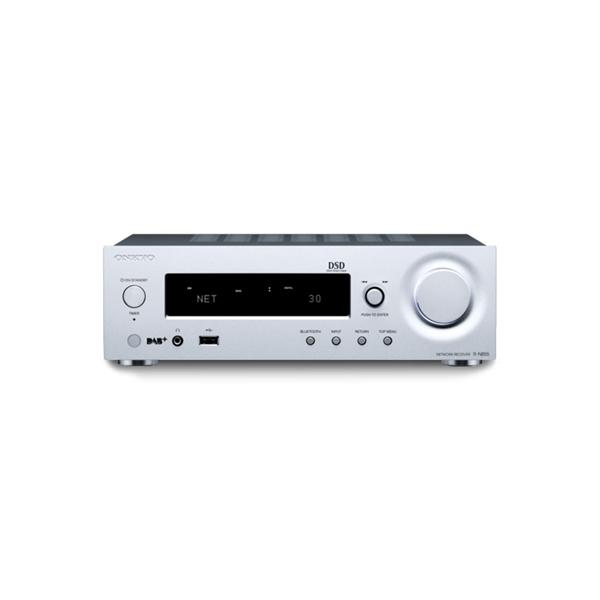AV Receivers - Onkyo R-N855 Stereo Network Receiver - Silver