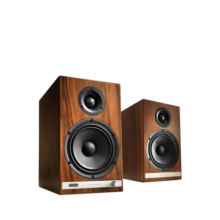 Audioengine HD6 Wireless Speakers - Walnut