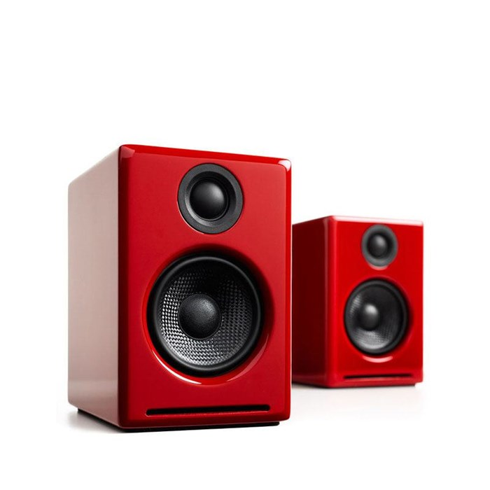 Audioengine A2+BT Wireless Speakers - Gloss Red