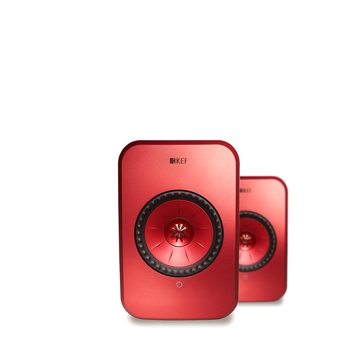 KEF LSX Wireless Speakers - Red