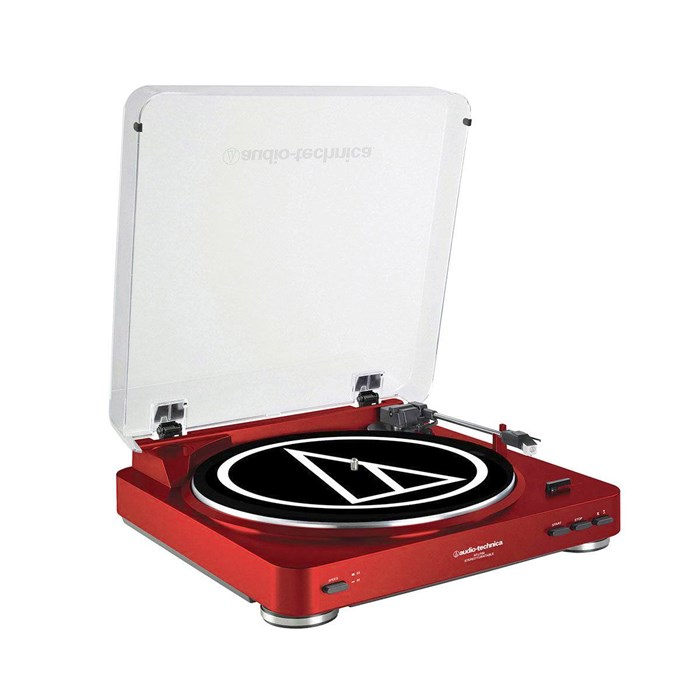 Audio Technica AT-LP60 Belt-Driven Two-Speed Turntable - Red