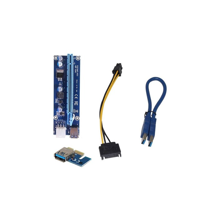 Generic  USB 3.0 PCI-E Express 1x to 16x GPU Extender Riser Card Adapter Power Cable