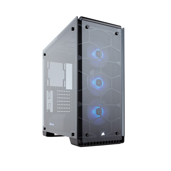 Corsair Crystal 570X RGB Full Tempered Glass Mid-Tower Case - Black