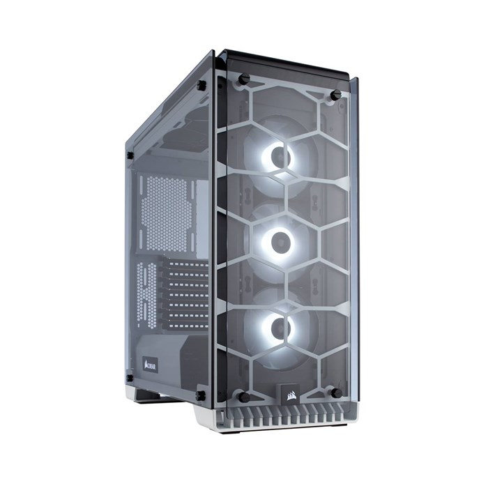 Corsair Crystal 570X RGB Full Tempered Glass Mid-Tower Case - White