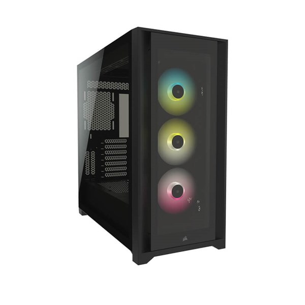 Corsair iCUE 5000X RGB Tempered Glass Mid-Tower Case - Black
