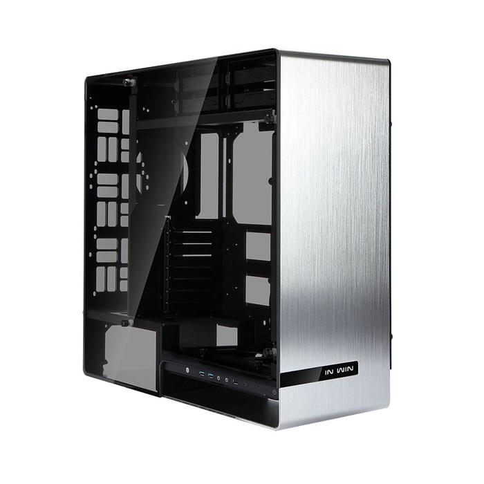 Inwin 909 Aluminium Tempered Glass Full-Tower Case - Silver