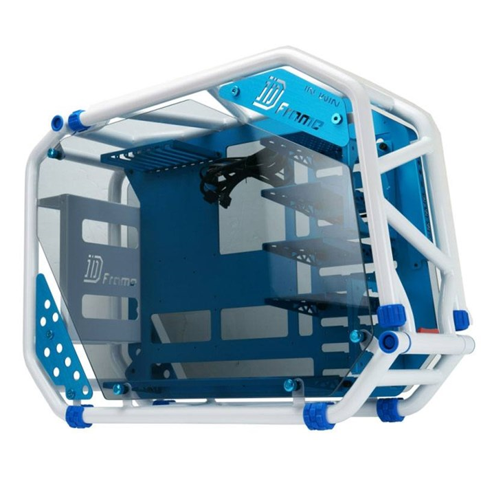 Inwin D-Frame 2.0 Open-Air Mid Tower Chassis - Blue / White
