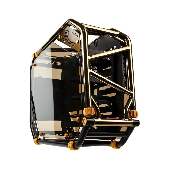 Inwin D-Frame 2.0 Open-Air Mid Tower Chassis - Black / Gold Platinum