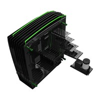 Inwin H-Frame 2.0 Tower Chassis - Black/Green - pr_283800