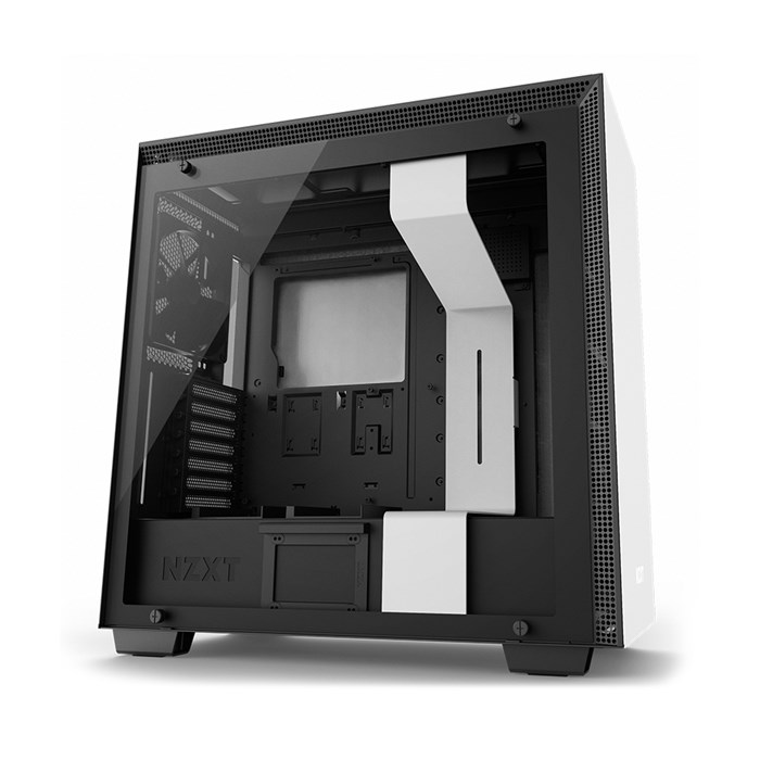 NZXT H700i Premium Tempered Glass Mid-Tower Case - Matte White