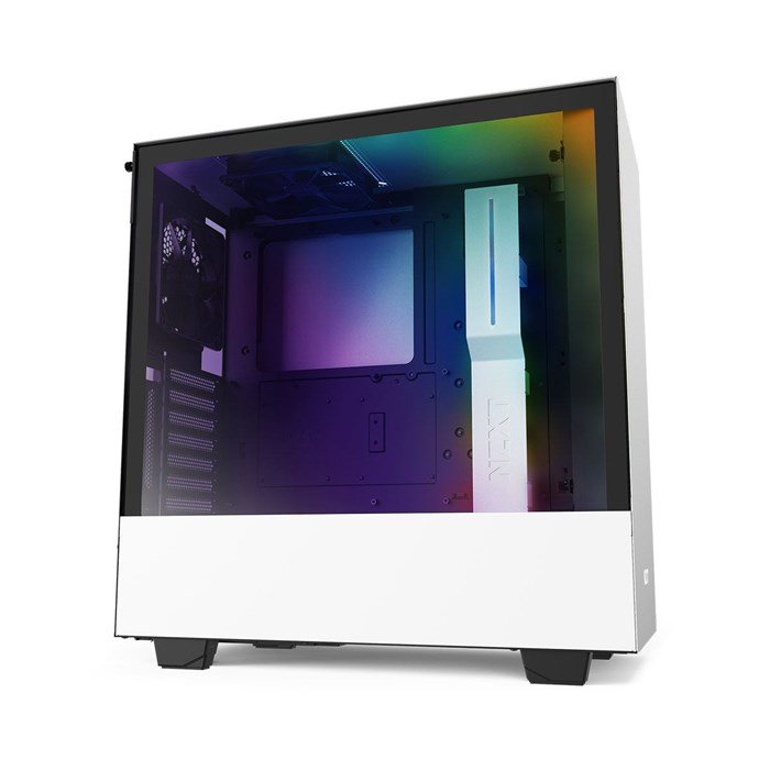 NZXT H510i Compact Mid Tower with CAM and Lighting - White
