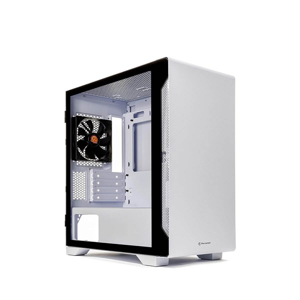 Thermaltake S100 Tempered Glass Micro ATX Case - Snow Edition