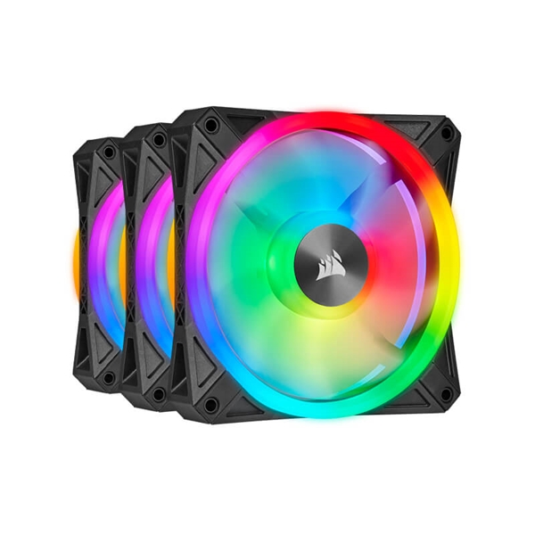 Corsair iCUE QL120 RGB PWM 120mm Triple Fan with Lighting Node CORE  1