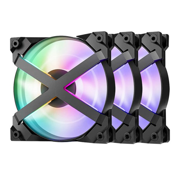 Deepcool MF120 GT 3 in 1 Customisable RGB LED Fans 120mm (3-Pack)