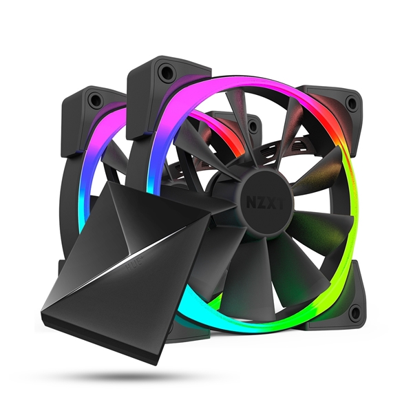 Fans - NZXT Aer RGB LED PWM 140mm Fan with Hue+ Controller