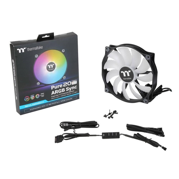 Cooling - Thermaltake PURE 20 ARGB PWM 200mm Fan - Computer