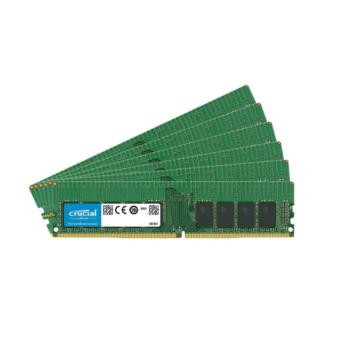 Crucial 192GB (6x32GB) DDR4-2933 ECC Registered Memory