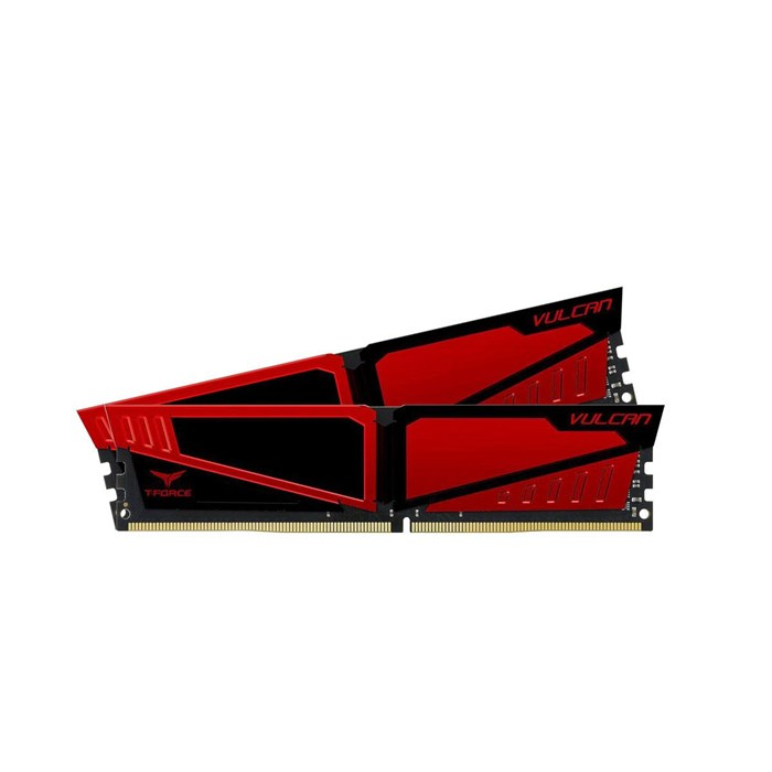Team T-Force Vulcan 16GB (8GBx2) DDR4-2400 Gaming Memory - Red