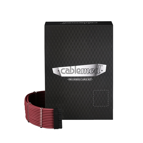 CableMod PRO ModMesh E-Series G3 / G2 / P2 / T2 Cable Kit - Blood Red  1