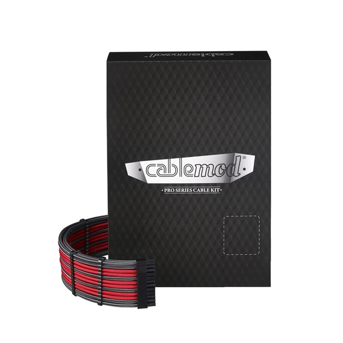 CableMod RT-Series PRO ModMesh Cable Kit - Carbon/Red