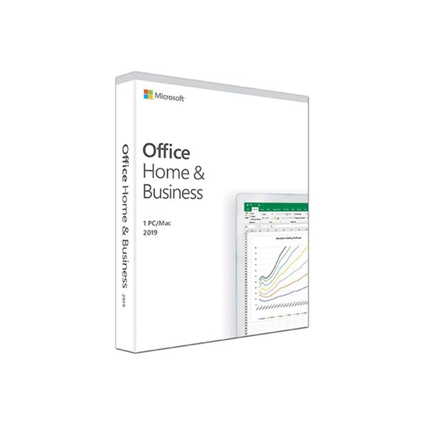 Microsoft Office Home and Business 2019 Medialess 1 User PC or Mac