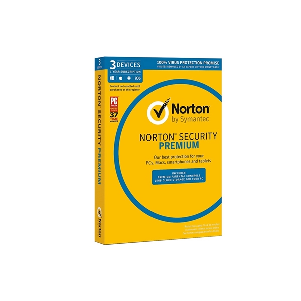 Symantec Norton Security Premium 3.0 3 Device  1 User 1Yr Sub  1