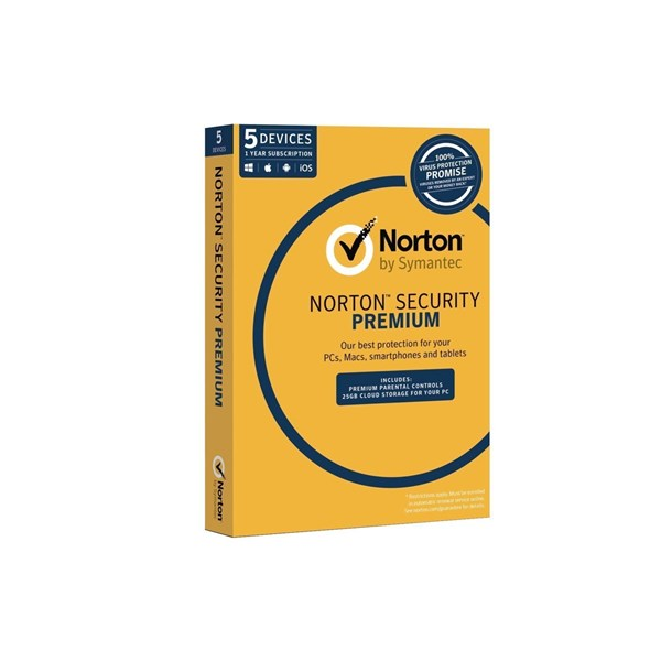 Symantec Norton Security Premium 3.0 5 Device 1 User 1Yr Sub