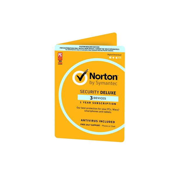 Symantec Norton Security Deluxe 3.0, 3 Device 1Yr Sub