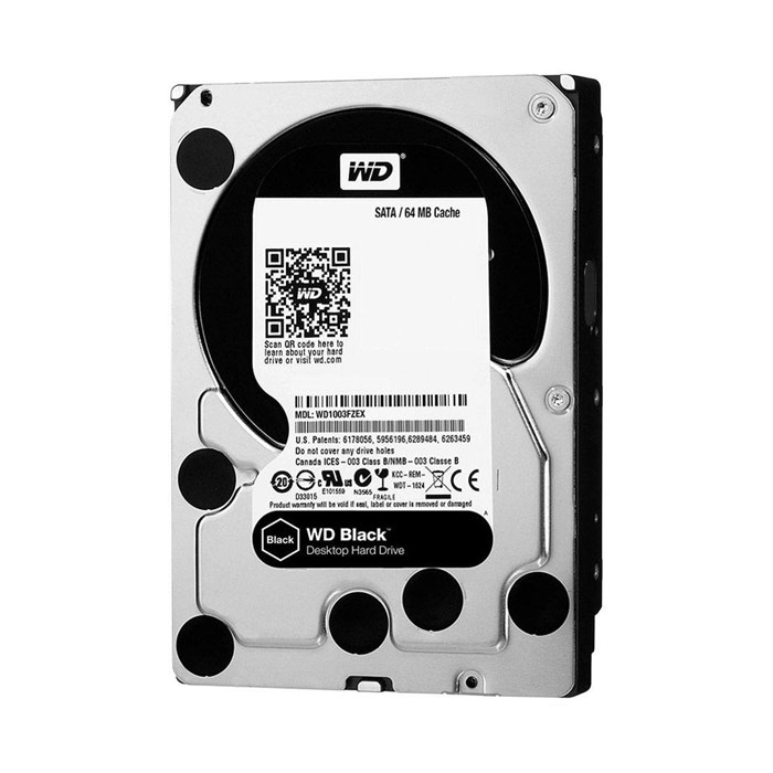 Western Digital  Black 1TB 64MB SATA3 Hard Drive