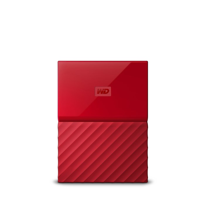 Western Digital My Passport 2TB USB3.0 Portable Drive - Red
