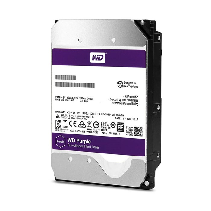 Western Digital Purple 10TB 64MB SATA3 6Gb/s Hard Drive