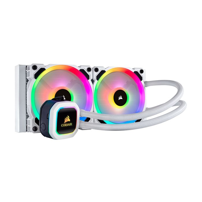 Corsair Hydro Series H100i RGB Platinum SE Liquid CPU Cooler - White