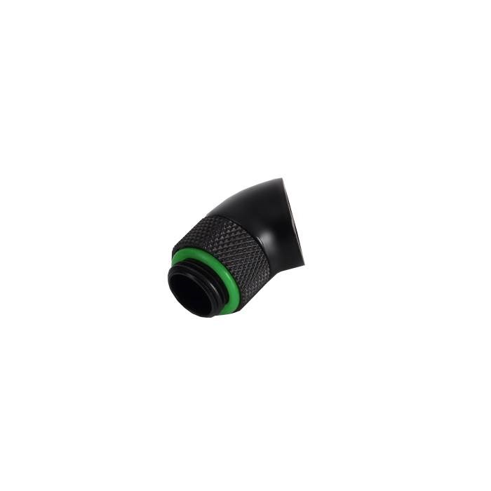 "Bitspower G1/4"" Rotary 45-Degree Extender - Matte Black"