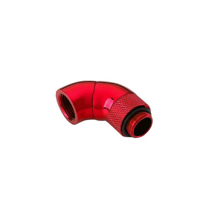 "Bitspower G1/4"" Dual Rotary 90-Degree Extender - Deep Blood Red"
