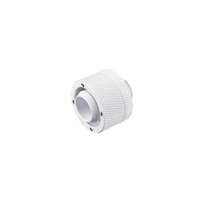 "Bitspower G1/4"" Compression Fitting CC5 V3 For ID 1/2"" OD 3/4"" Tube - Deluxe White"