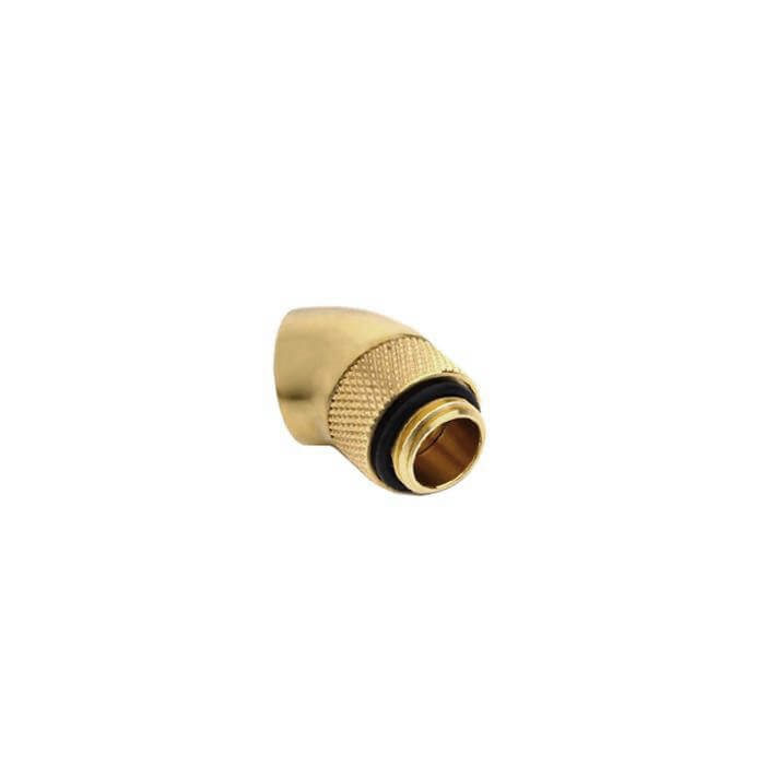 "Bitspower G1/4"" Rotary 45-Degree Extender - True Brass"