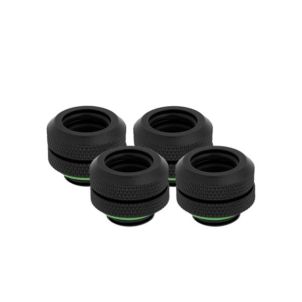 Corsair Hydro X Series XF Hardline 12mm Compression Fittings 4 Pack - Black