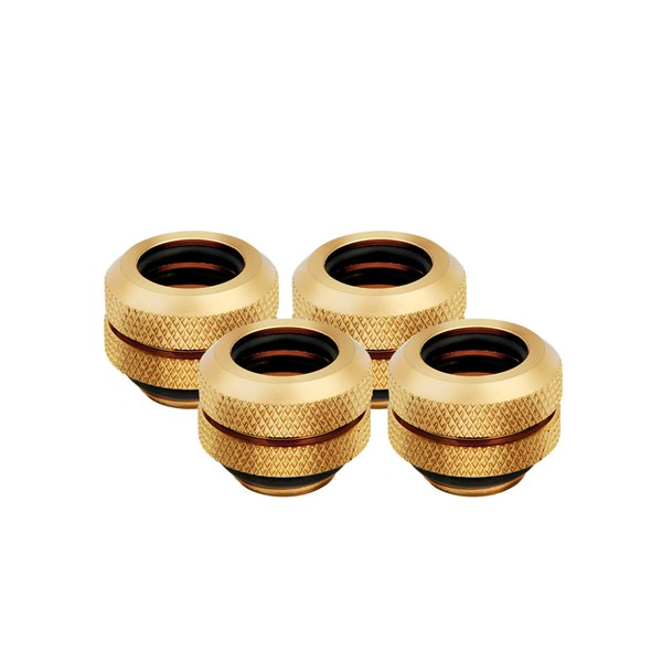 Corsair Hydro X Series XF Hardline 12mm Compression Fittings 4 Pack - Gold