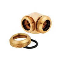 Corsair Hydro X Series XF Hardline 14mm 90° Angled Compression Twin Pack - Gold - pr_286653