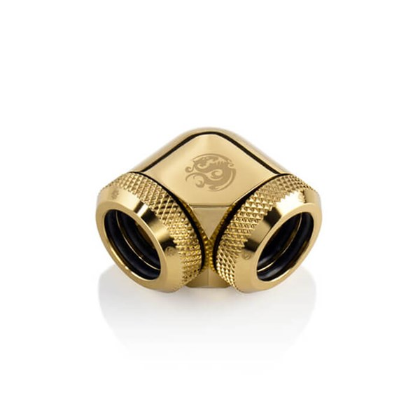 Bitspower 90-Degree Dual Multi-Link Fitting For OD 14mm - True Brass