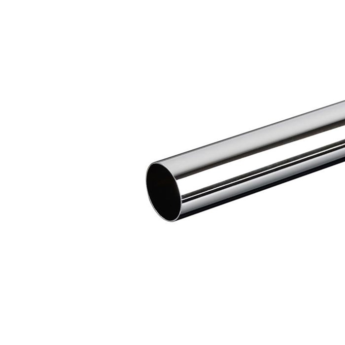 Bitspower None Chamfer BrassLink 16mm OD Tube 300mm - Shining Silver