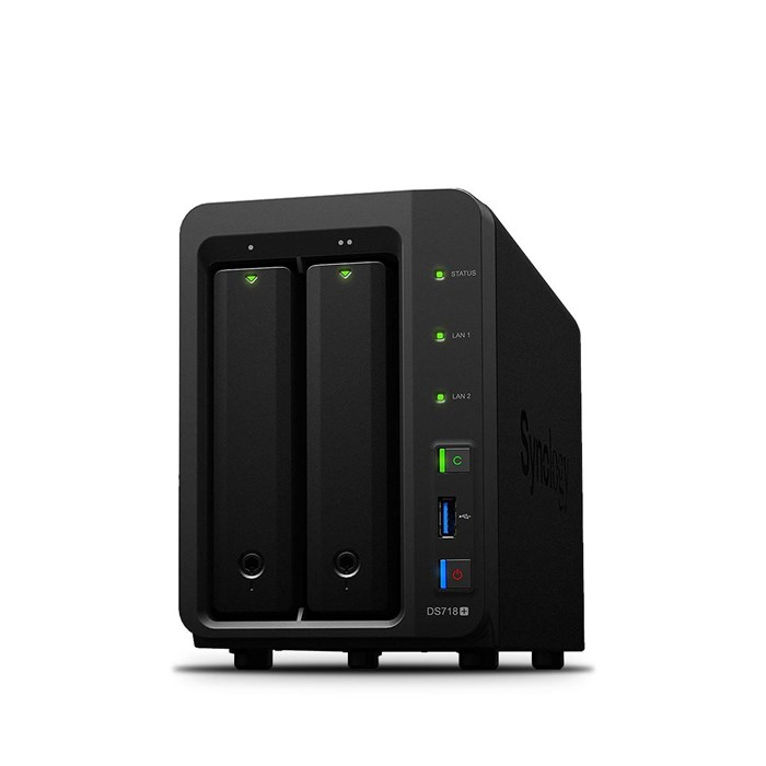Synology DiskStation DS718+ 2 Bay NAS - Diskless